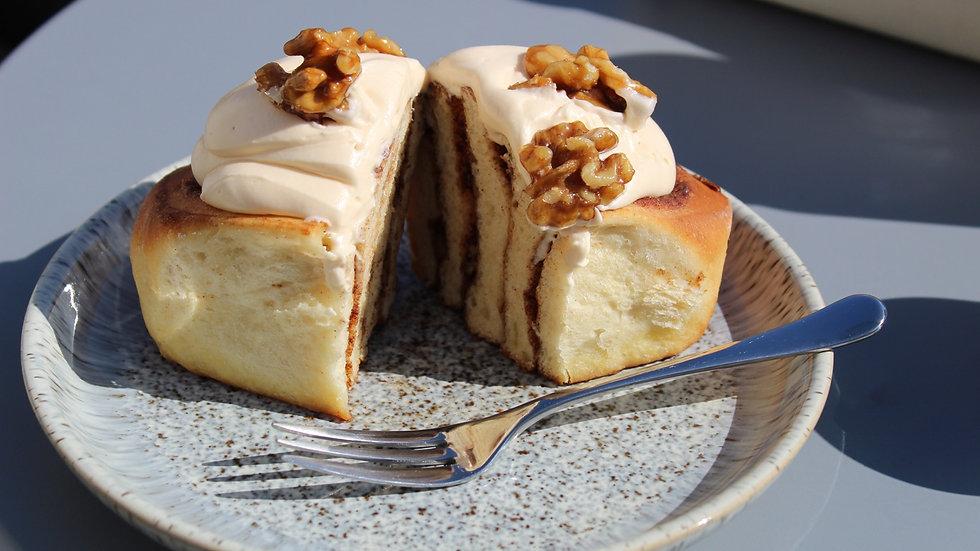 Maple Walnut Cinnamon Rolls