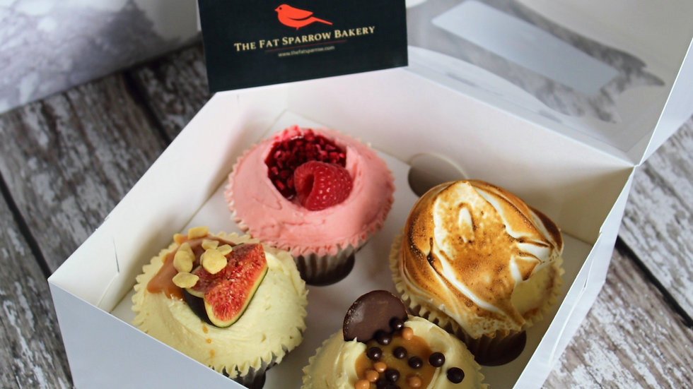 The Fat Sparrow Cupcake Selection