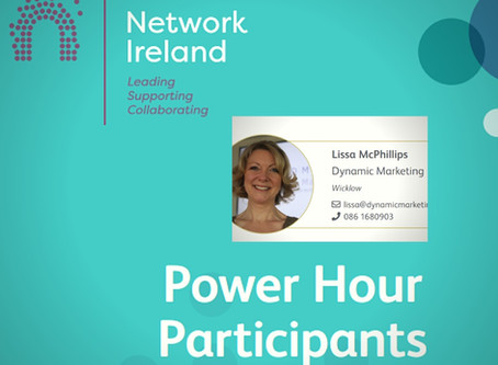 Listen to My Power Hour Session @ Network Ireland's Annual Conference!
