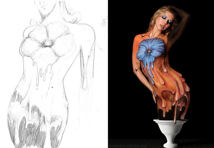 Diseño de body paint México