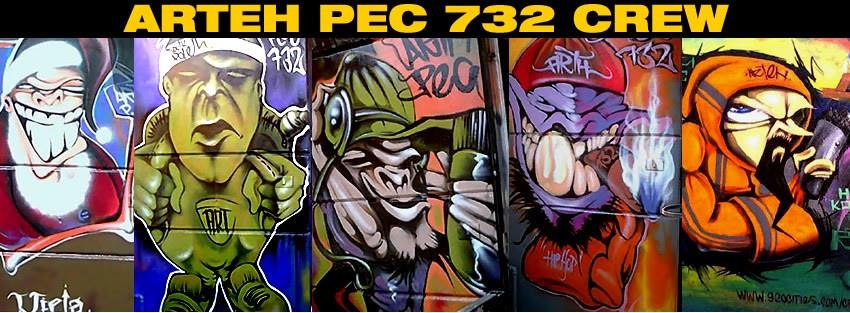 Grafiti en México PEC 732 Crew