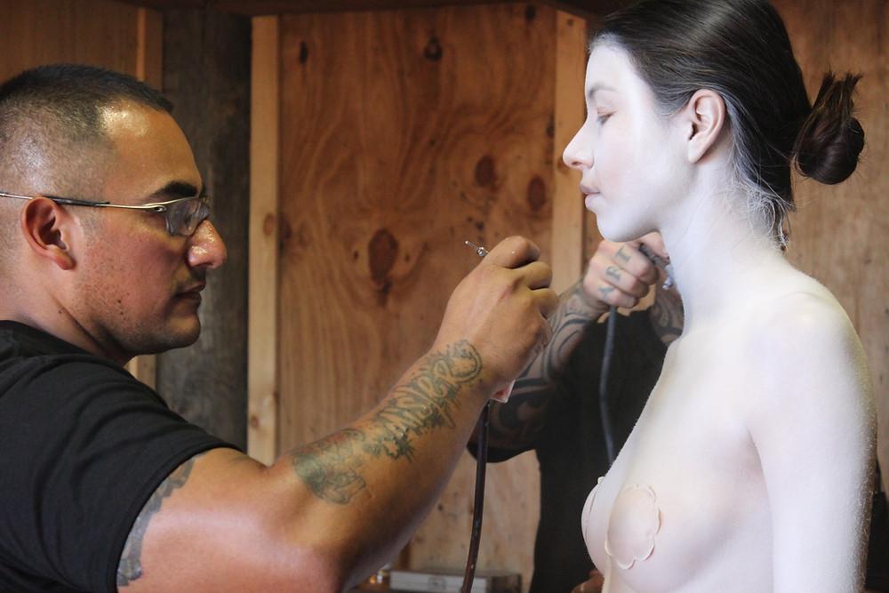 Body paint con aerografo profesional México