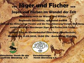 """Vortrag - """"Jäger und Fischer"""" Termin wird noch bekannt gegeben"""