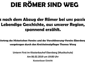 Vortrag - Die Römer sind weg