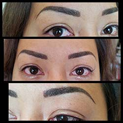 Permanent eyebrows eyeliner #lashenhance