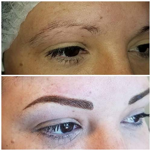 Hairstrokes and shading permanent eyebro