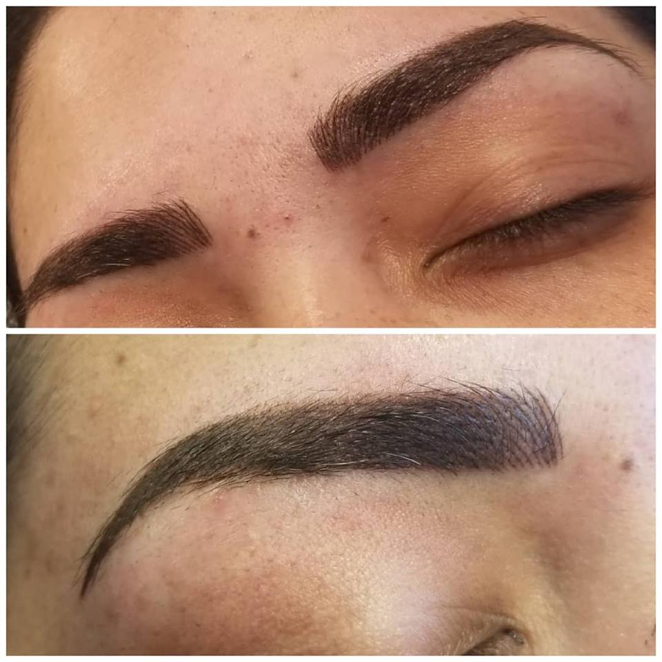 combination permanent eyebrows