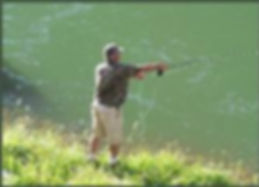 Fly fishing downstream from Blue Mesa Lake near Black Canyon RV Park and Campground