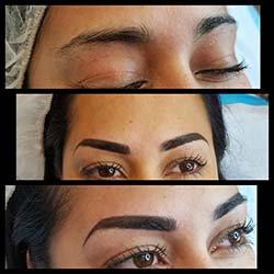 #combinationbrows Permanent eyebrows