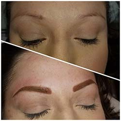 Powdered brows