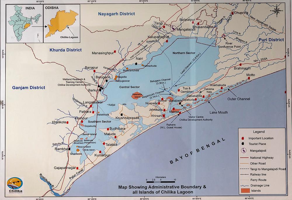 Chilika Map