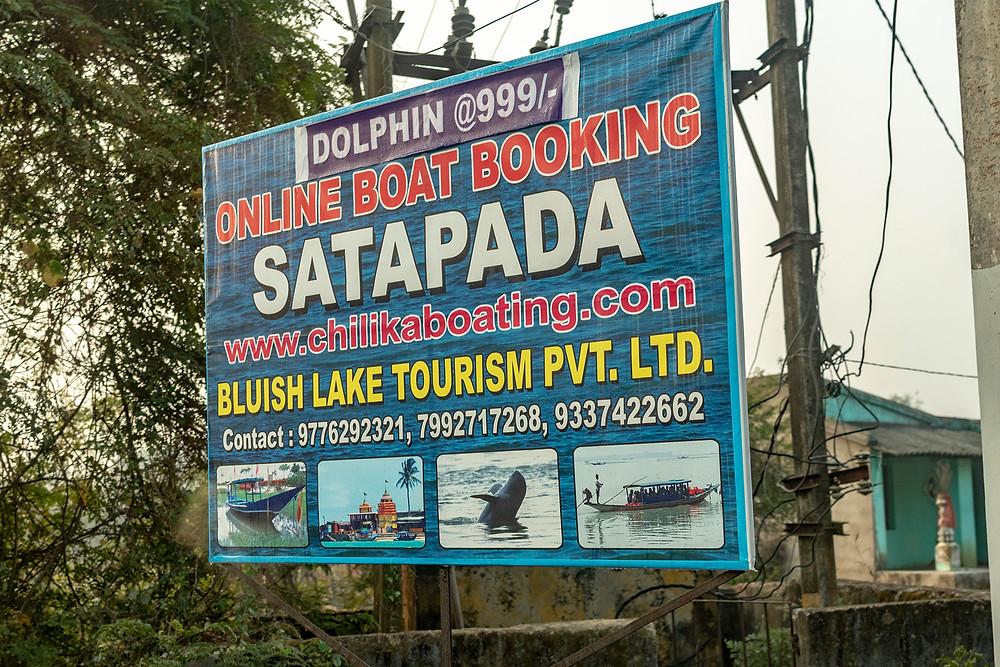 Satapada boating signage