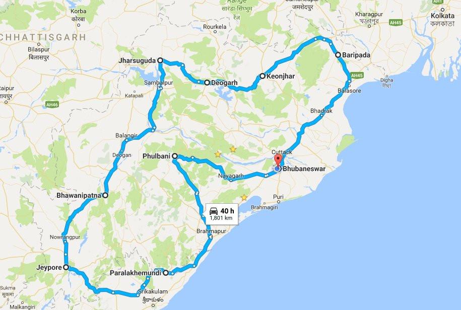WFOdisha Map