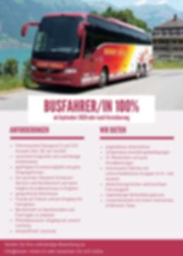 Stellenangebot; offene Stellen; Jobsuche; Busfahrer; Chauffeur; Busfahrerin; Chauffeuse; 100% Stelle im Kanton Zürich