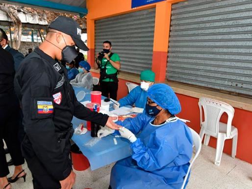 100 de los 500 agentes que llegaron a Guayaquil se realizaron pruebas de COVID-19