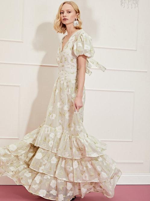 Lasso Flora Ruffle Hem Maxi Dress