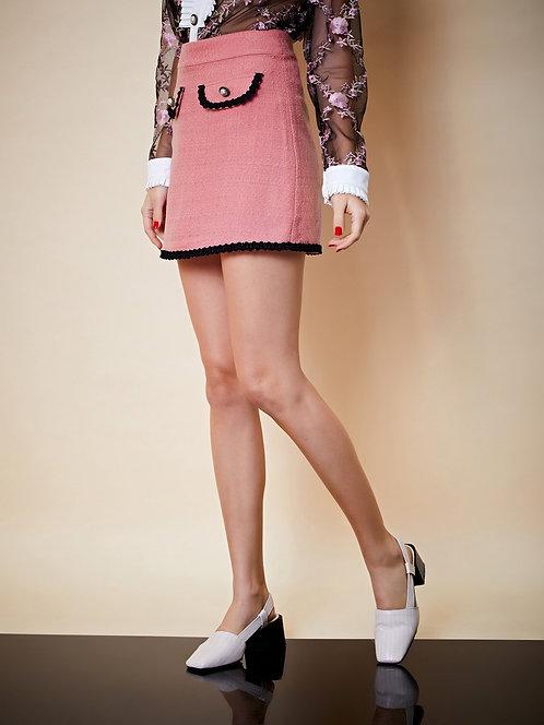 Fame Walk Tweed Micro Skirt