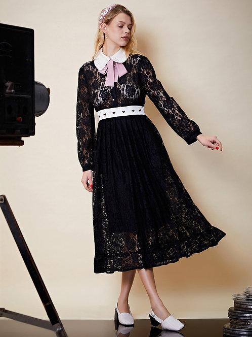 Capture This lace Midi Dress