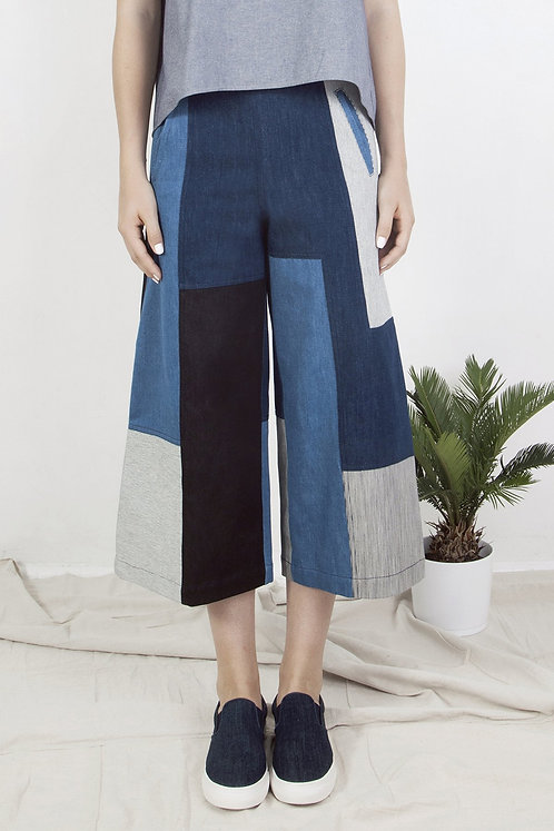 Patchwork denim culottes (diffrent denim)