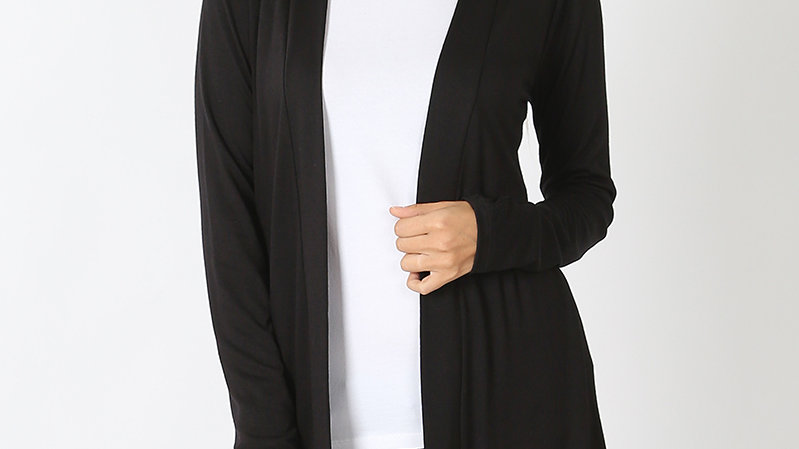 Black Long Sleeved Cardigan