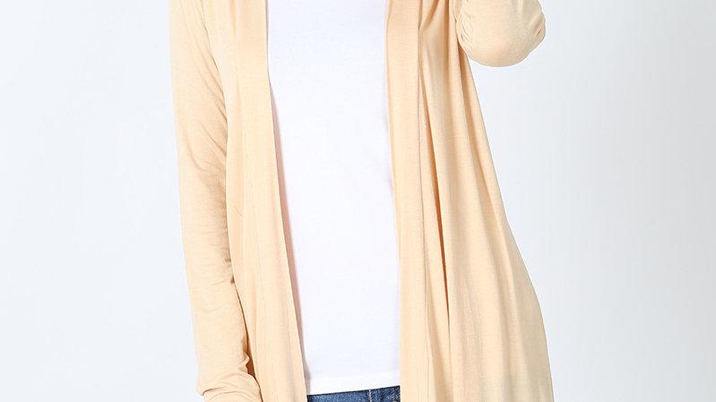 Sand Long Sleeved Cardigan