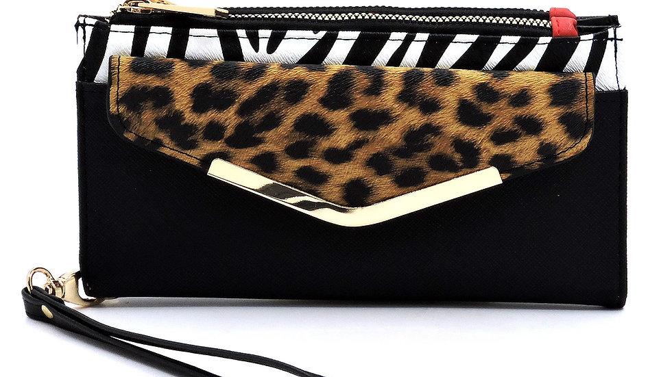 Leopard and Zebra Wallet