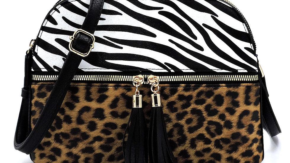 Leopard Zebra Colorblock Crossbody