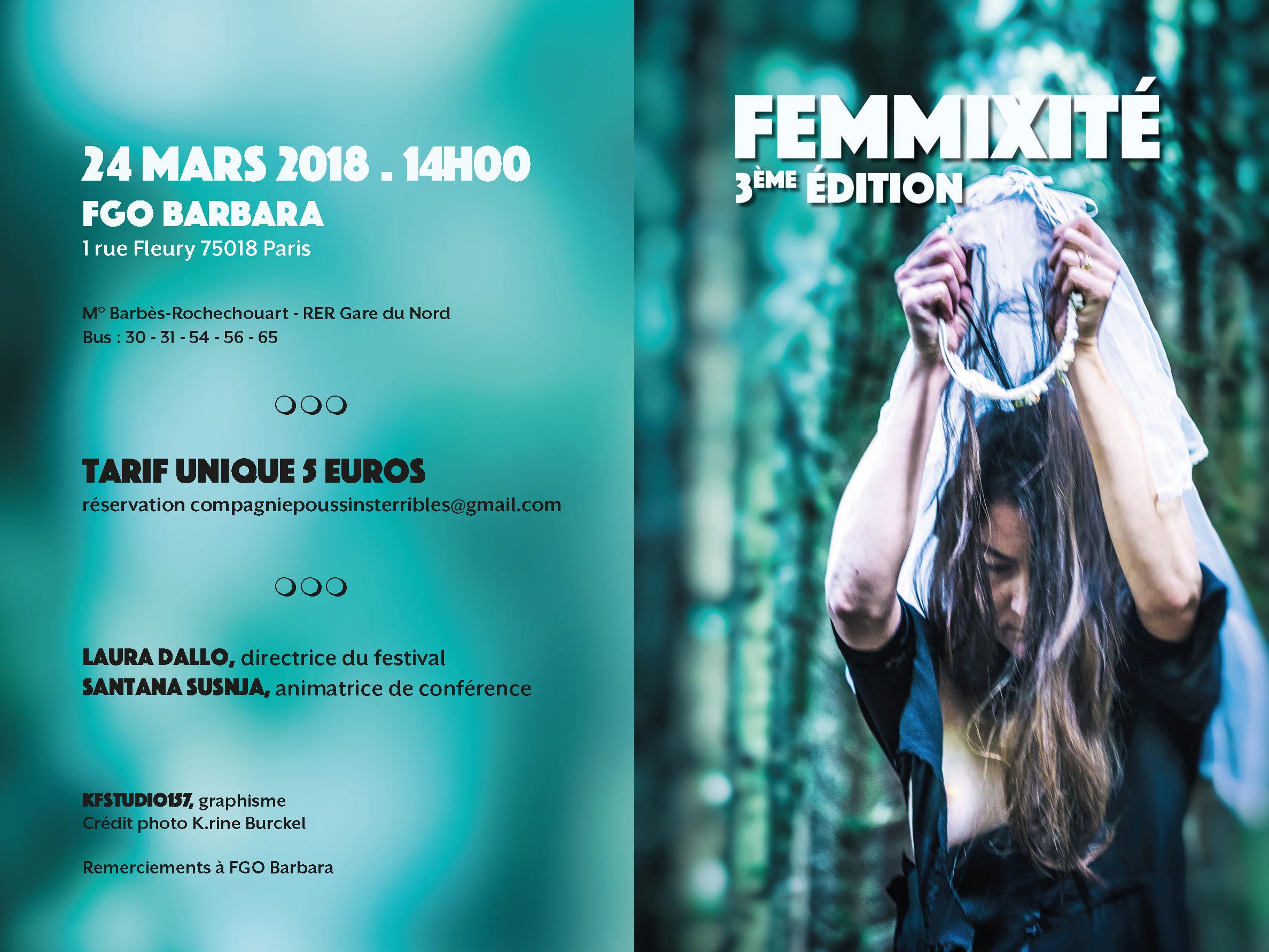 Festival FEMMIXITÉ - Flyer pliant