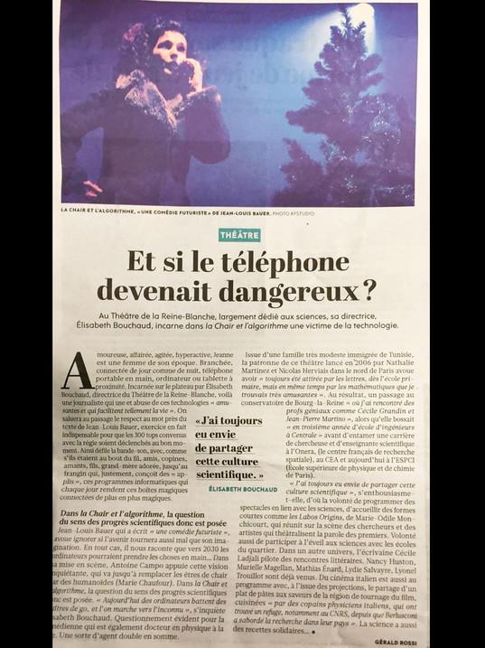 Libération - La Chair et l'Algorithme