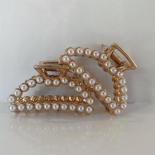 Small Pearl Claw Clip