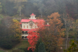 mansion with fog