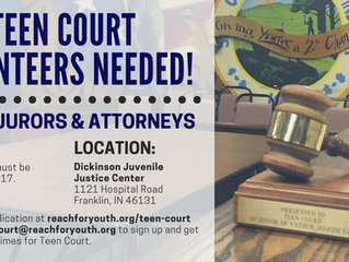 Youth Volunteers Needed for Teen Court Program in Johnson County!