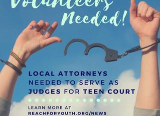Volunteer Attorneys Needed for Teen Court Program in Morgan County!