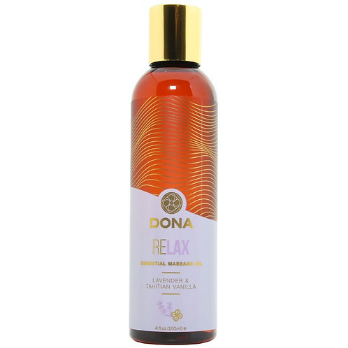 Relax Massage Oil 4oz/120ml in Lavender & Tahitian Vanilla