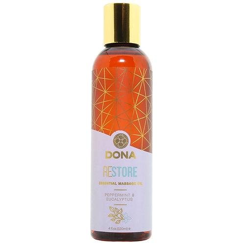 Restore Massage Oil 4oz/120ml in Peppermint & Eucalyptus