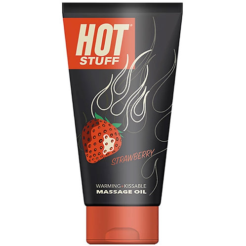 Hot Stuff Warming Massage Oil - Strawberry - 6 Fl. Oz. Tube