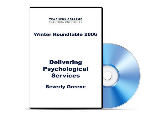 Beverly Greene - Delivering Psychological Services - DVD
