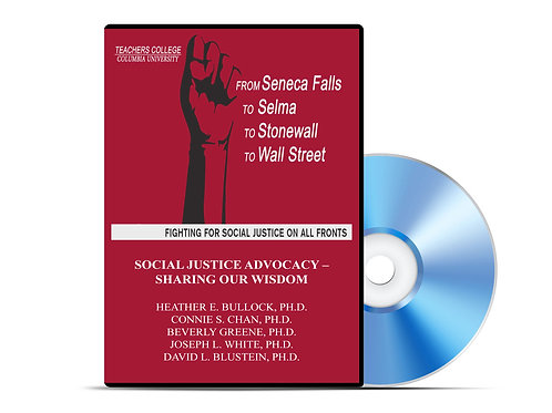 Bullock, Chan, Greene, White, Blustein - Social Justice Advocacy - DVD