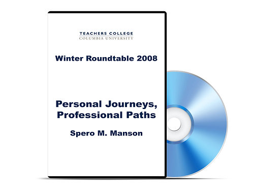 Spero M. Manson - Personal Journeys, Professional Paths - DVD