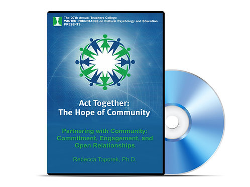 Rebecca Toporek - Partnering with Community - DVD