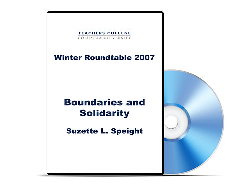 Suzette L. Speight - Boundaries and Solidarity - DVD