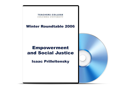 Isaac Prilleltensky - Empowerment and Social Justice - DVD