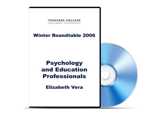 Elizabeth Vera - Psychology and Education Professionals - DVD