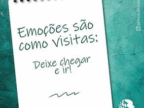 Emoções são como visitas: deixe chegar e ir!