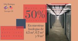 50% descuento bodegas