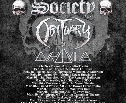 Black Label Society, Obituary, Lord Dying USA and CANADA