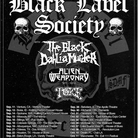 Black Label Society, The Black Dahlia Murder, Alien Weaponry, Toke