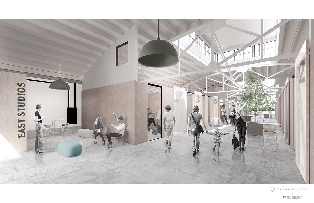 Rendering of the East Artist Studios of The Monarch