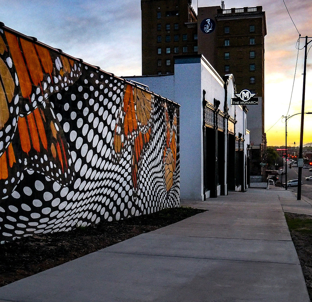 Monarch Mural and Building, Photo Taken by Carbon Architects
