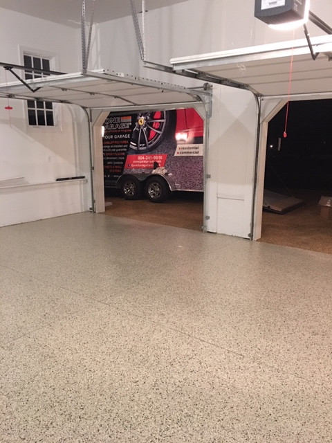 New garage floor coating